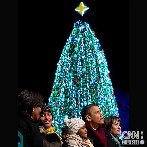 Beyaz Sarayın ağacı ışıklandırıldı 3