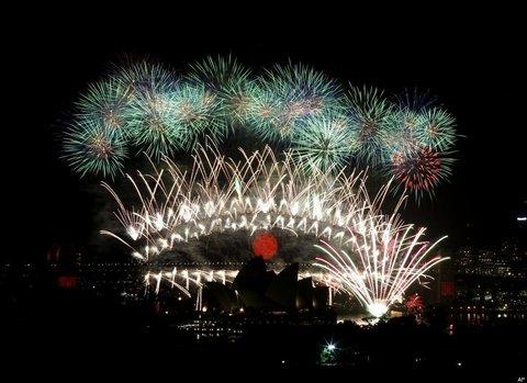 Dünya yeni yılı böyle kutladı  5