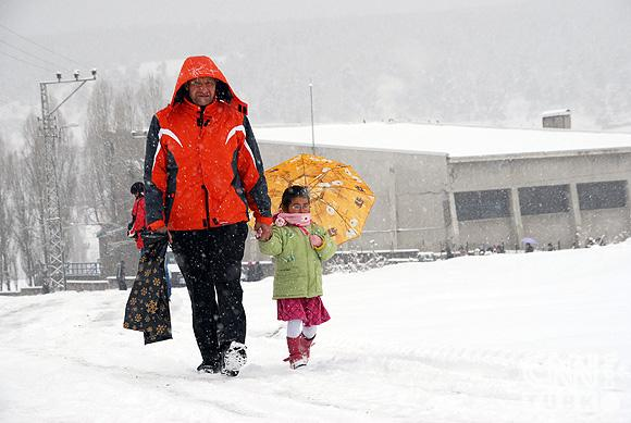 Bahar karı yurtta ulaşımı aksatıyor! 12