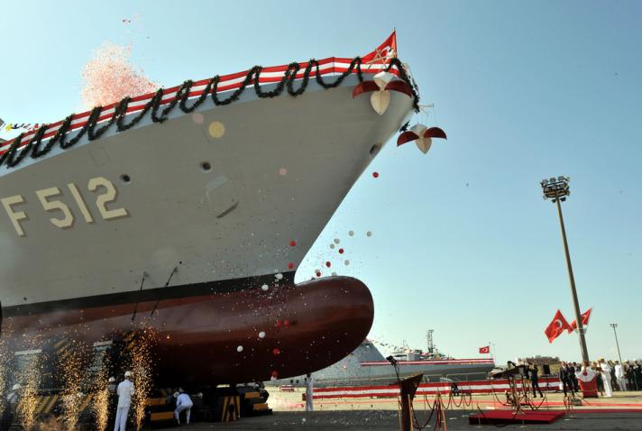 İlk Milli Savaş Gemisi Denize İndirildi 1