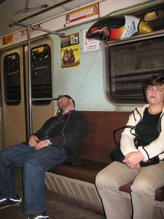 Dünya Metrolarından Güldüren Kareler 18