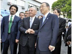 Bm Genel Sekreteri Ban Ki-moon, Hidrojenle Çalışan Forklift Kullandı
