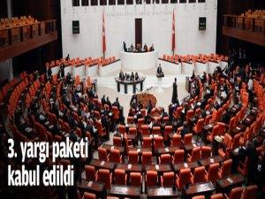 3. yargı paketi kabul edildi