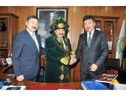 Başkan Demirel Kazakistan Karagandı Caz Orkestrası'nı Etimesgutta Ağırladı