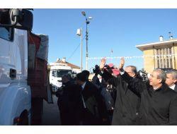 Eker Suriyeler İçin Üretilen Unları Gaziantepten Uğurladı