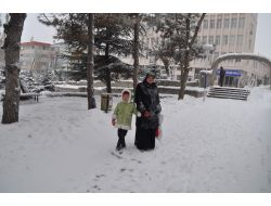Yozgat'ta Kar Yağışı Etkisini Sürdürüyor
