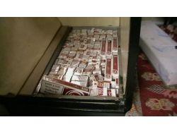 Minibüste 10 Bin Paket Kaçak Sigara Bulundu