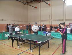 Yozgat'ta Okullar Arası Düzenlenen Masa Tenisi Turnuvası Sona Erdi