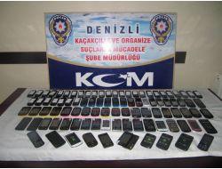 Denizli'de 95 Adet Kaçak Cep Telefonu Ele Geçirildi