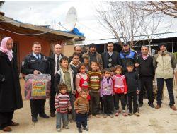 Kumlu Emniyetinden Suriyelilere Yardım