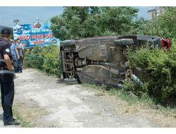 Otomobil Çocuk Parkına Devrildi: 4 Yaralı