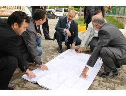 Vali Büyükersoy Cami İnşaat Alanında İnceleme Yaptı