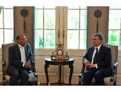 Tunus Cumhurbaşkanı Merzuki Çankaya Köşkü'nde