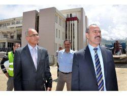 Vali Büyükersoy, Yeni Hastane İnşaatını İnceledi