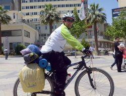 Sağlıklı Hayata Dikkat Çekmek İçin Bin 455 Kilometreyi Bisikletiyle Gidiyor