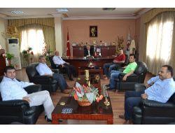 Kozan Ticaret Odasının Yeni Yönetimi Başkan Özgan'ı Ziyaret Etti