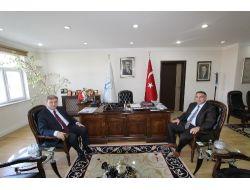 Bölge İdare Mahkemesi Başkanı Gülerden Başkan Cengiz'e Veda Ziyareti