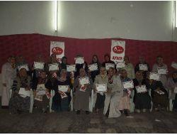 Ayderden Gönüllü Bayanlara Teşekkür Belgesi
