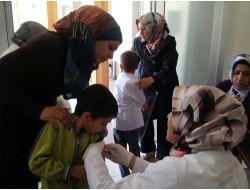 Suriyeli Öğrencilere Kızamık Aşısı Yapıldı