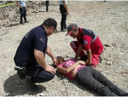 Uşak'ta Deprem Tatbikatı Düzenlendi
