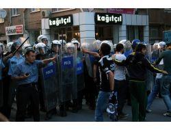 Kütahyada Protestocu Gruba Polisten Müdahale