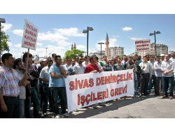 Sivas Demir Çelik İşçileri Haklarını Arıyor