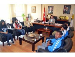 Olimpiyat Öğrencilerinden Başkan Köktaşa Ziyaret