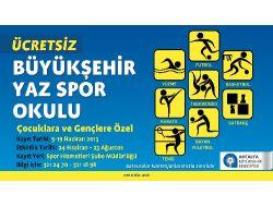 Büyükşehir'in Yaz Spor Okullarından 2 Bin 200 Çocuk Faydalanacak