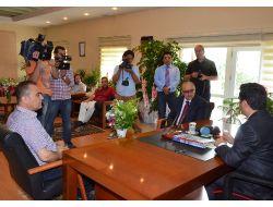 Vali Orhan Düzgün Gazetecileri Kabul Etti