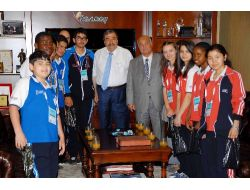 Olimpiyat Çocukları Konukoğlu'nu Ziyaret Etti