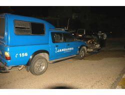 Görevden Dönen Jandarma Aracı Kaza Yaptı