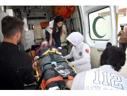 Teleferik İnşaatından Düşen İki İşçi Hastanelik Oldu (2)