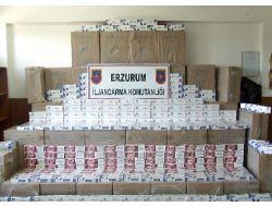 Araçta 6 Bin 600 Paket Kaçak Sigara