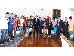 Türkçenin Çocukları Tekirdağ Protokolünü Ziyaret Etti