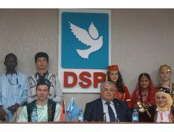 Dsp Lideri Türker, Türkçe Olimpiyatı'na Katılan Çocukları Kabul Etti