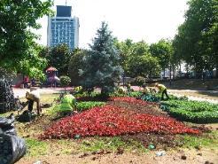 Gezi Parkında yenilenme sürüyor