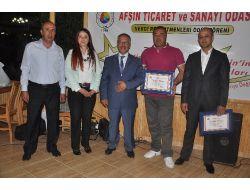 Afşin'de Vergi Rekortmenleri Ödüllendirildi
