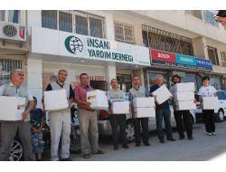 İskenderundaki Suriyelilere Gıda Yardımı Yapıldı