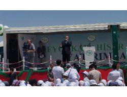 Bakan Eroğlu, Çay-karacaören'de Temel Atma Törenine Katıldı