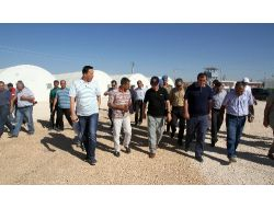 Vali Cengiz, Midyat'ta Suriyeli Mülteciler İçin Kurulan Çadır Kenti Ziyaret Etti