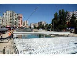Atatürk Caddesi'ni Kenan Evren'e Bağlayacak Köprünün Yapımı Sürüyor
