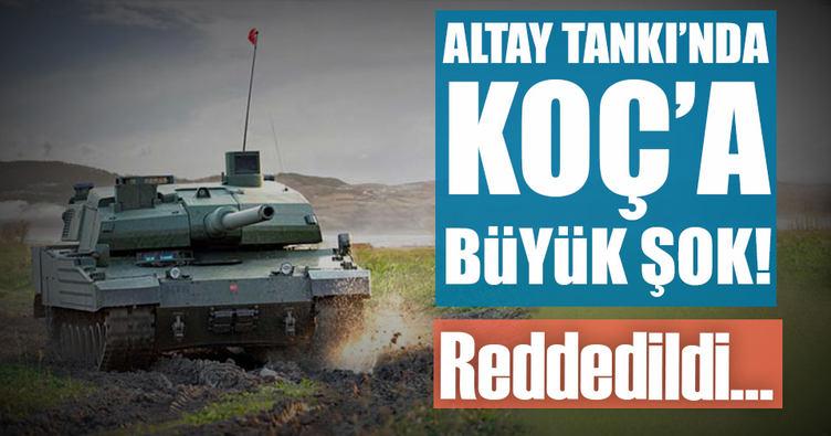 Altay tankında Koça büyük şok