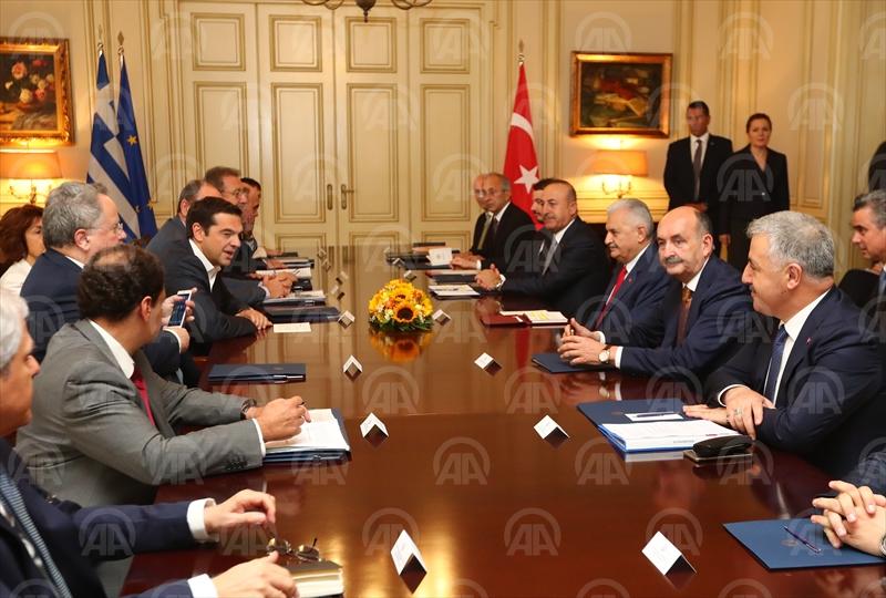 Başbakan Yıldırım, Yunan mevkidaşı Çipras ile görüştü