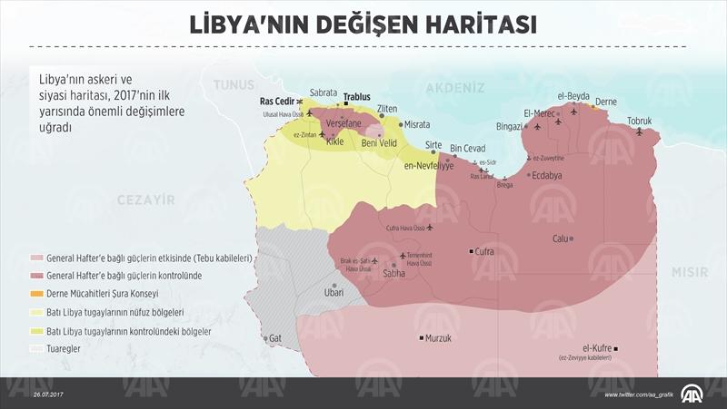 Libyanın değişen haritası
