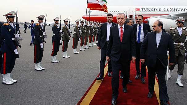 Cumhurbaşkanı Erdoğan Tahranda..