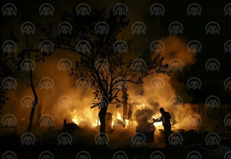 Ankarada hobi bahçesinde yangın