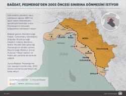 Bağdat Peşmergeden 2003 öncesi sınırına dönmesini istiyor