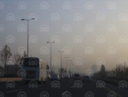 Başkentte sis