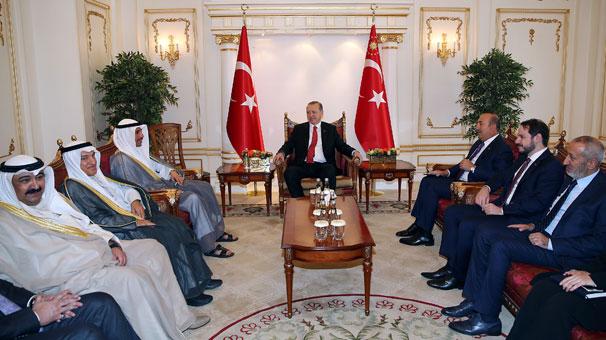 Erdoğan, Kuveyt Başbakanı El Sabah'ı kabul etti