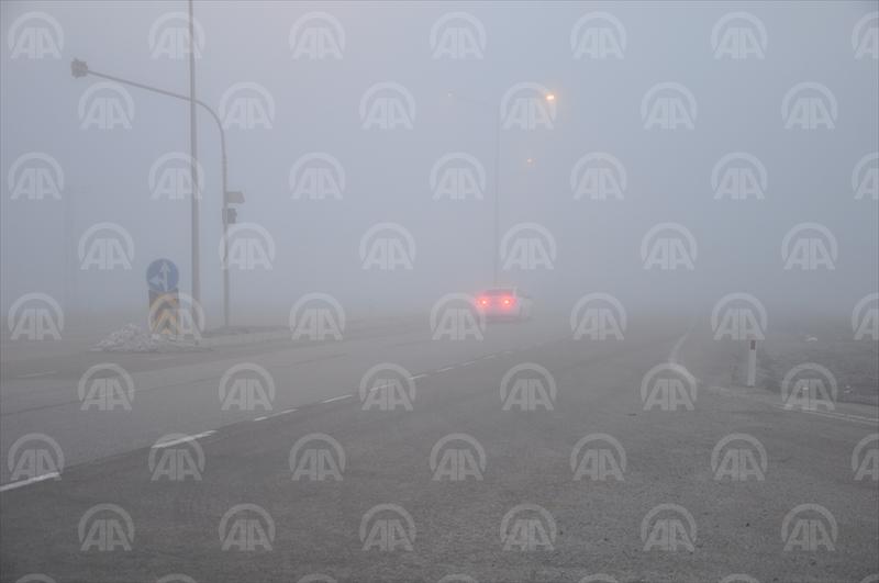 Kırıkkale'de yoğun sis